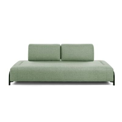 Meomo Fabric Module Sofa, Armless, 3 Seater, Green