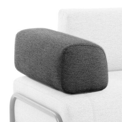 Meomo Fabric Module Sofa Armrest, Charcoal