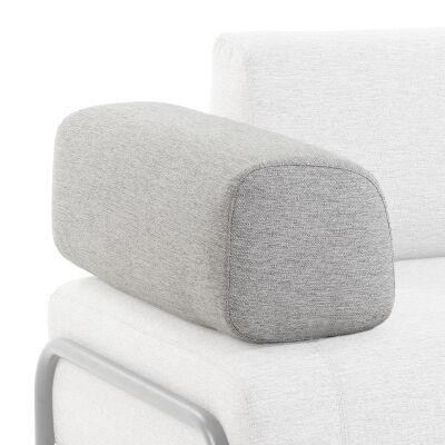 Meomo Fabric Module Sofa Armrest, Light Grey