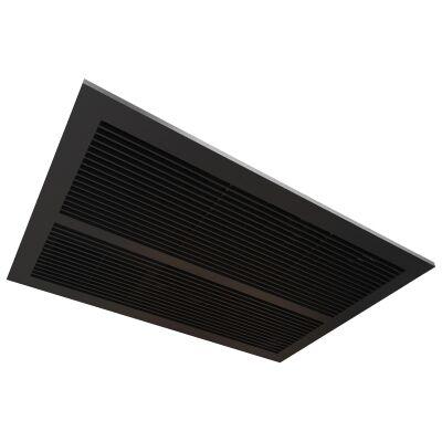 Ventair Sahara Ultra Slim 2-in-1 Fan Bathroom Heater with Exhaust, Matte Black