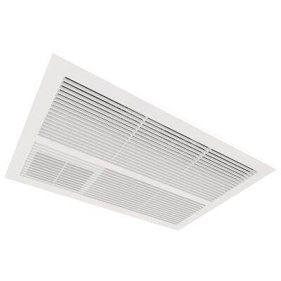 Ventair Sahara Ultra Slim 2-in-1 Fan Bathroom Heater with Exhaust, White