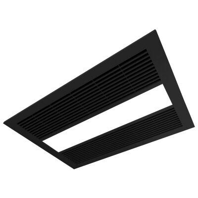 Ventair Sahara Ultra Slim 4-in-1 Fan Bathroom Heater with Exhaust & LED Panel Light, Matte Black