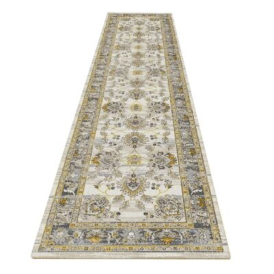 Nomad Ament Oriental Runner Rug, 80x300cm, Gold