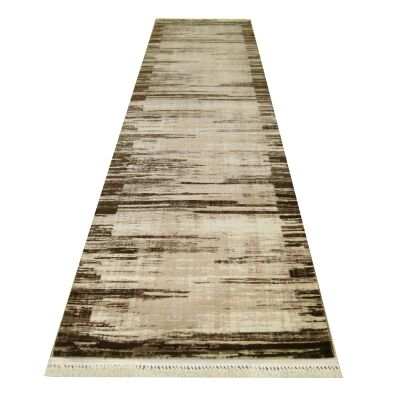Apollo River Modern Runner Rug, 80x300cm, Brown