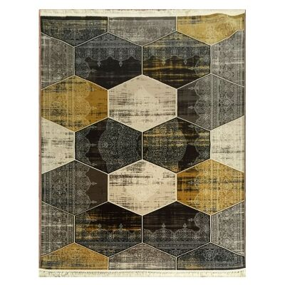 Apollo Hexago Modern Rug, 80x150cm, Brown