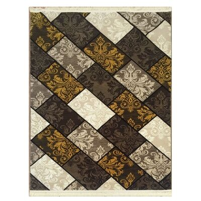 Apollo Bricks Modern Rug, 80x150cm, Brown