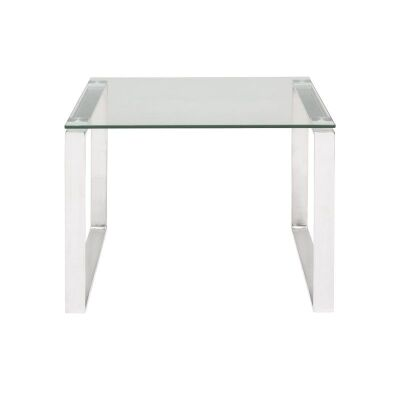 Essen Glass & Stainless Steel Lamp Table