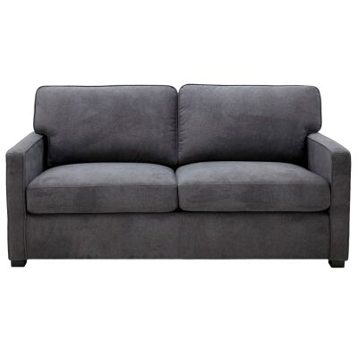 Peronne Fabric Pull Out Sofa Bed, 2.5 Seater, Licorice