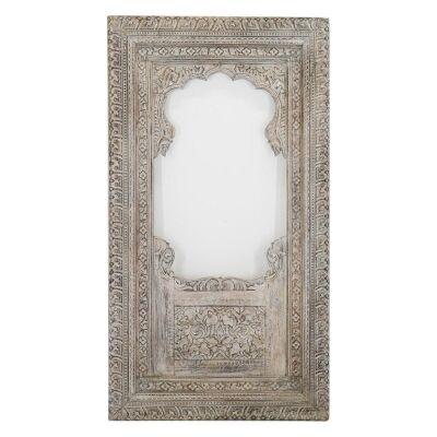 Massey Carved Timber Frame Floor Mirror, 190cm