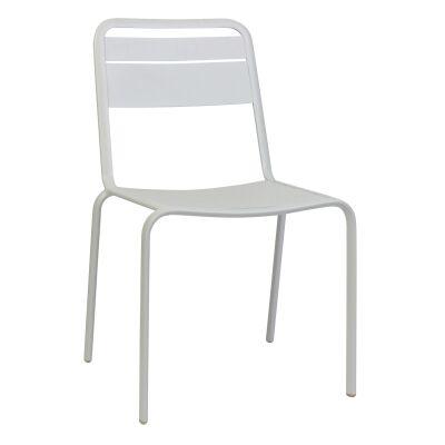 Lameretta Commercial Grade Aluminium Indoor / Outdoor Dining Chair, White
