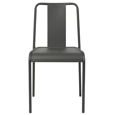 Lingotto Commercial Grade Aluminium Indoor / Outdoor Dining Chair, Anthracite
