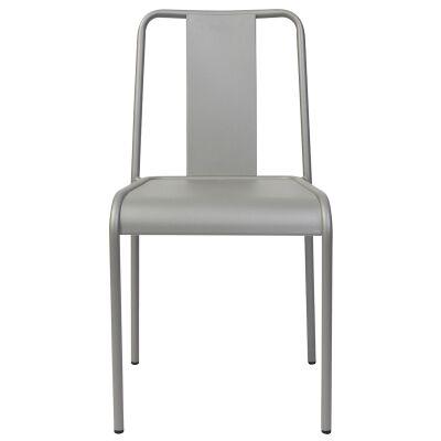 Lingotto Commercial Grade Aluminium Indoor / Outdoor Dining Chair, Titanium