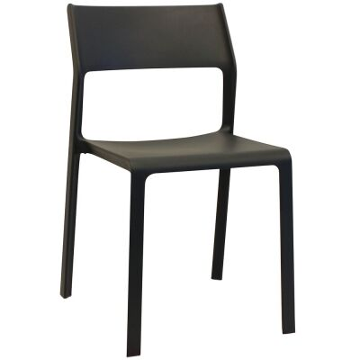 Trill Italian Made Commercial Grade Indoor / Outdoor Dining Chair, Anthracite