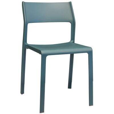 Trill Italian Made Commercial Grade Indoor / Outdoor Dining Chair, Teal