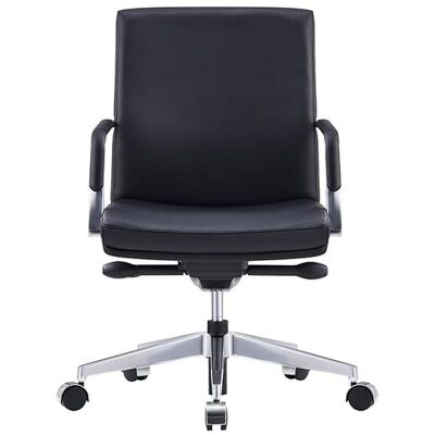Select Premium Italian Leather Executive Office Chair, Low Back