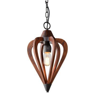 Senorita Wooden Frame Pendant Light, Small, Cherrywood