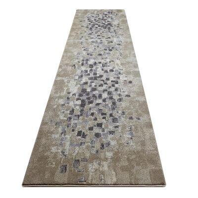 Destiny Sphinx Modern Runner Rug, 80x300cm, Sand