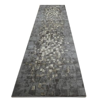 Destiny Sphinx Modern Runner Rug, 80x300cm, Smoke