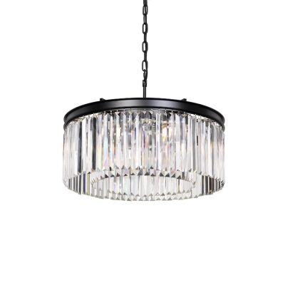 Serene Crystal Pendant Light, Ring, Small