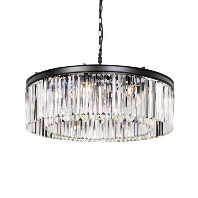 Serene Crystal Pendant Light, Ring, Large
