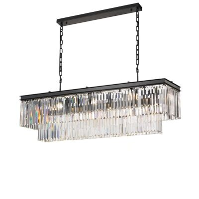 Serene Crystal Pendant Light, Rectangular