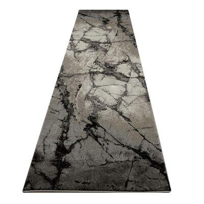 Destiny Zuni Modern Runner Rug, 80x300cm, Granite