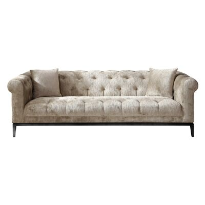 Sparrow 3 Seater Velvet Fabric Sofa