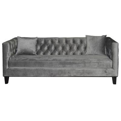 Provence 3 Seater Velvet Fabric Sofa