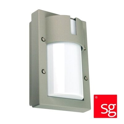 SG Ludo IP65 Exterior Bunker Wall Light, Silver