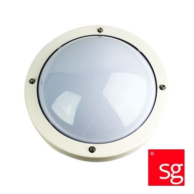 SG Primo IP65 Exterior Bunker Wall Light, White