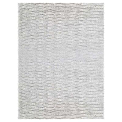 Bramston Braided Modern Wool Rug, 230x160cm, Ivory