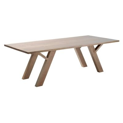 Lerida Victorian Ash Timber Dining Table, 240cm