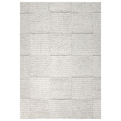 Ottawa Braided Modern Wool Rug, 280x190cm, Ivory