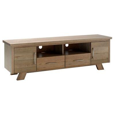 Lerida Victorian Ash Timber 2 Door 2 Drawer TV Unit, 180cm