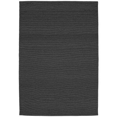 Shire Modern Wool Rug, 225x155cm, Black