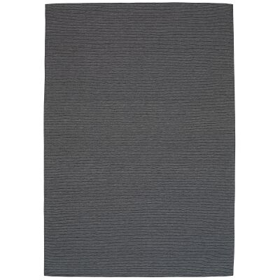 Shire Modern Wool Rug, 225x155cm, Charcoal