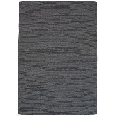 Shire Modern Wool Rug, 330x240cm, Charcoal