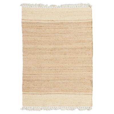Asmita Hand Loomed Jute Rug, 200x290cm, Ivory / Natural