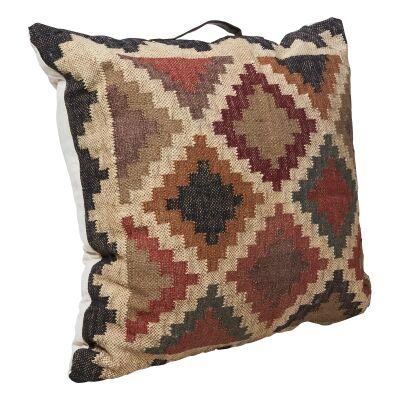 Kilm Checkered Fabric Floor Cushion