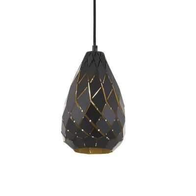 Simon Metal Pendant Light, Small, Gunmetal