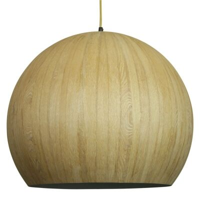 Cacia Wood Veneer Pendant Light - Oak