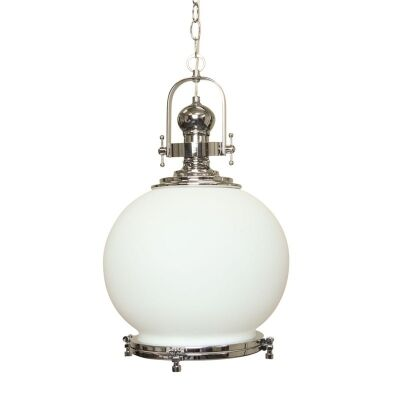 Gelos Round Pendant Light with Translucent Shade