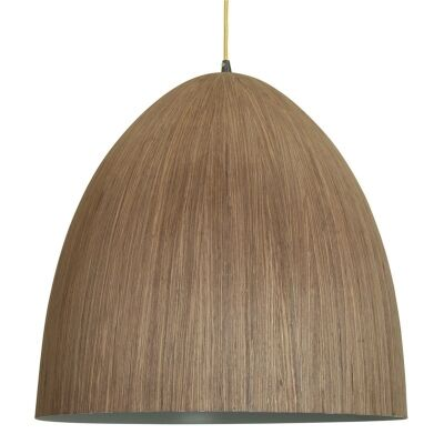 Cacia Wood Veneer Pendant Light - Walnut
