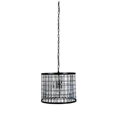 Delaware Metal & Faux Crystal Pendant Light, 35cm