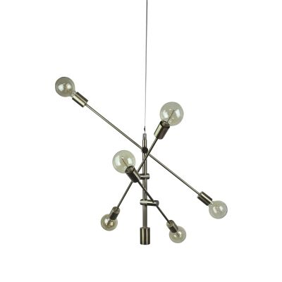 Chelsea Metal Satellite Pendant Light, Small, Antique Brass