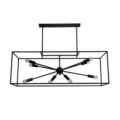 Georgetown Horizontal Metal Box Pendant Light