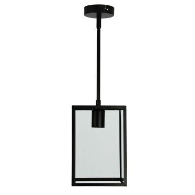 Eaton Boxey Glass & Metal Pendant Light