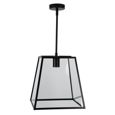 Eaton Trapezoid Metal & Glass Penant Light, 1 Light