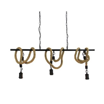 Rope Triple Suspension Pendant Light