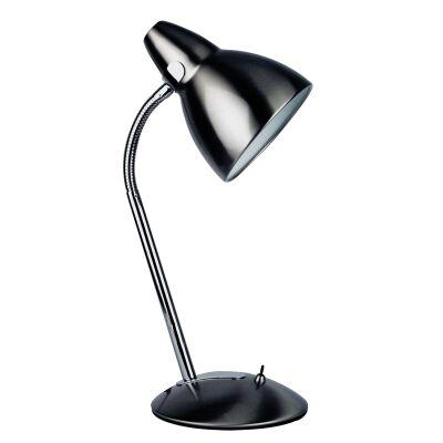 Trax Metal Desk Lamp, Brushed Chrome
